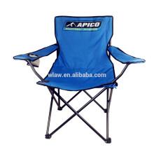 Heavy Duty 300 lb Capacidade 600D Poliéster Estrutura De Aço Ao Ar Livre Portátil Dobrável Cadeira De Acampamento