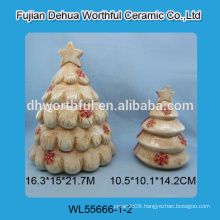 2016 new style Christmas tree shaped Ceramic seal pot