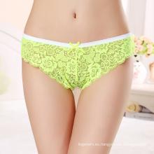 Caliente Venta Sexy Lace Panty Transparente Mujeres Maduras Ropa Interior 7304
