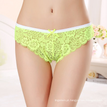 Hot Sales Sexy Lace Transparent Panty Mulheres maduras Underwear 7304