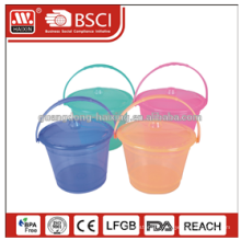 colorful transparent plastic bucket with lid handle 4L 6L 8L 10L