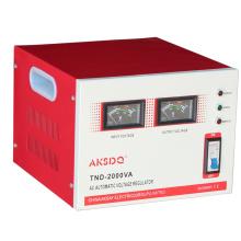 Nouveau SVC 2000va Monophasé Entrée large 150V à 260V Servo-moteur Stabilisateur automatique de tension CA haute précision pour usage domestique