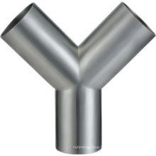Raccord de tuyauterie sanitaire en acier inoxydable DIN / 3A / SMS