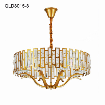 copper indoor pendant light decorative crystal chandelier