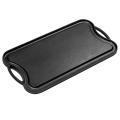 Cacerola de la plancha del filete del arrabio del servicio pesado / bakeware / BBQ board / plancha reverible