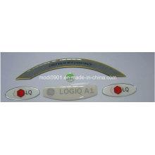 Étiquette en cristal décorative faite sur commande impression 2015 étiquette populaire d'étiquette de médecine de résine époxyde
