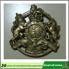 Brass Color Metal Emblem for Your Design