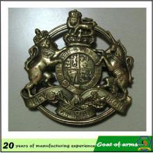Emblema de metal cor bronze para seu projeto
