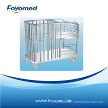 Venta caliente inoxidable cama enfermería hospital carrito
