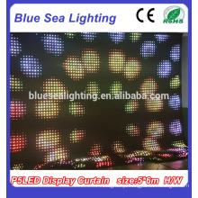 Cortina de LED de interior Iluminação Cortina de LED Flexível LED Display