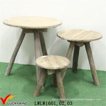 Conjunto de mesa de madera en forma de triángulo de madera de lujo