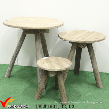Ensemble de table basse en bois triangulaire en forme de bois