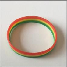 Professionelle Herstellung Layer Silikon Werbegeschenk Armband