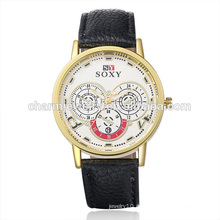 Best Selling Produkte Vogue Quarz Bunte Leder Armbanduhr SOXY003