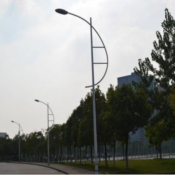 80W LED Street Light With Steel Light Poles