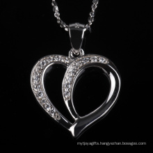 Forever Love Heart Shape Fashion Pendant Jewellery Necklace for Gift