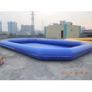 Amusement Pvc Tarpaulin Inflatable Water Pool 0.6mm - 0.9mm For Summer Aqua Theme Park