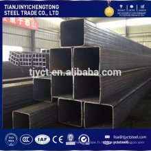 Tuyau carré de ms de bas carbone / acier galvanisé