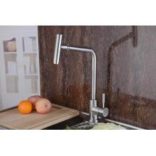 Faucet de cozinha de aço inoxidável 304 com bico giratório 360 (HS15004)