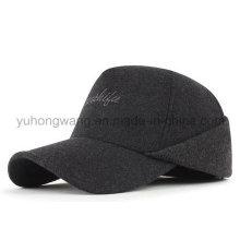 Chapéu quente dos esportes de inverno, boné de beisebol com orelha