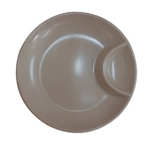 Melamine Round Plate/Dumpling Plate with Sauce Dish (QQ13810-08)