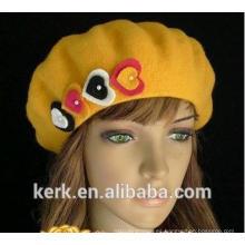 2015 nuevo sombrero de alta calidad del knit de la aduana del angora del invierno