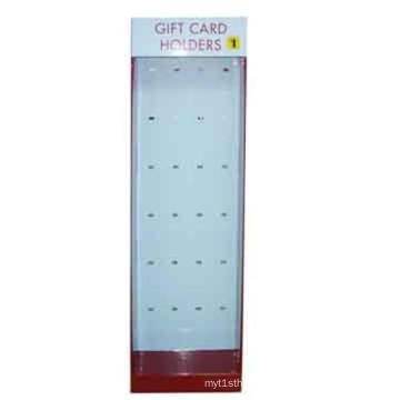 Vitrina de exibição de papelão ondulado de alta qualidade para titulares de cartões de presente