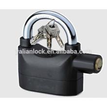 Top security alarm padlock