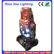 New 10R 280w beam spot wash 3 in 1 Stage light beam moving head light made in china