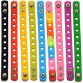 Pulseira de silicone infantil com cores personalizadas pulseira DIY