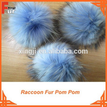 real Fur, Light Blue Fur Pompon