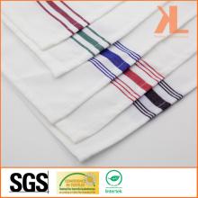 100% полиэстер качества квадратная полосатая белая обычная скатерть