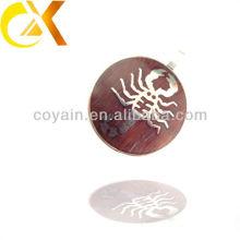 China alibaba Colgante de los hombres de la joyería del acero inoxidable, colgante de encargo del círculo del escorpión