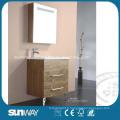 Meuble de salle de bain en MDF pour meuble de sol avec meuble miroir