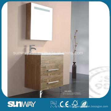 Móveis de casa de banho de MDF com suporte para chão com gabinete de espelho