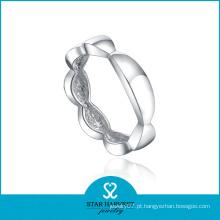 Fashionale Plain anel de prata 925 (SH-R0439)