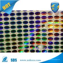 Vivid color UV impressão uso presente anti-falso oem holograma adesivo
