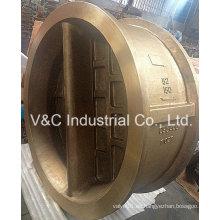 Wafer Ni-Al-Bronze Duo-Plate Válvula de retención