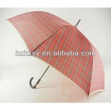 190T Polyestergewebe gerade Regenschirm mit Schultergurt-Tasche