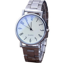Blue Glass Quartz Steel Band Watch Fashionable Simple Digital Men′s Business Watch