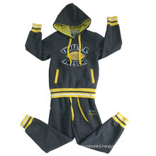 Winter Fleece Children Suit Sets in Children Clothes with Cardigan Hooded Boy Suits Swb-105