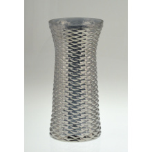 Cylindrical Glass Vase in French Grey