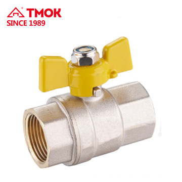 "1/2"" Female Thread Brass Gas Ball Valve Two Way Brass Ball Valve with Aluminum Butterfly Handle in Heavy Duty"