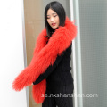 Fashion Winter Mongolian Lamb Heavy Fur Scarf Women