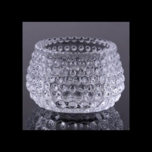 Tealight de diamante de vidro