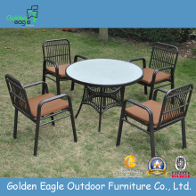 Rattan Dining Round Round Table and Chair sets
