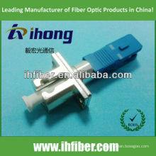 LC metal hembra SC adaptador de fibra de plástico macho