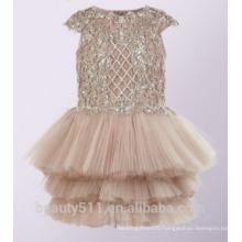 High Quality flower girl dress patterns free lovely lace flower girl dress 2017 for wedding Children Girl Dress ED742