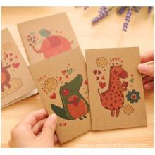 Cuaderno de madera del cuaderno de la cubierta de la madera, cuaderno para la promoción