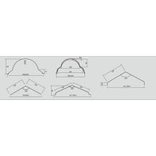 Fliese Roof Ridge Cap Roll Formmaschine
